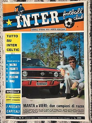 1972 EUROPEAN CUP SEMI FINAL INTER MILAN v CELTIC (OFFICIAL INTER CLUB ISSUE)