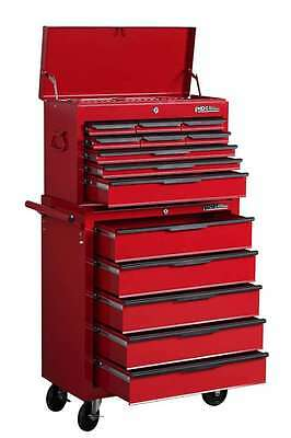 Hilka Tool Trolley Chest New Red Metal Mobile Tools Storage Roll Cab Cabinet 14