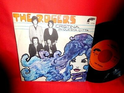 THE ROGERS Cristina 45rpm 7' + PS 1970 ITALY BEAT MINT
