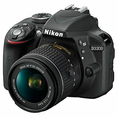 Nikon D3300 Digital SLR 24.2MP 1080P Camera with 18-55mm Lens (ML1566)
