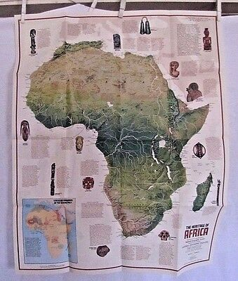 1971 National Geographic Map - The People of Africa - 23 x 28 inches