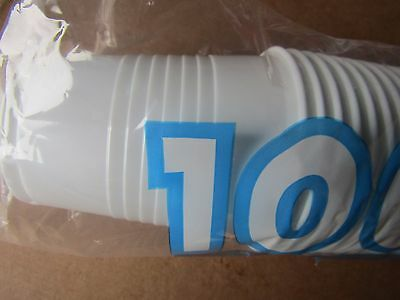 2000 x White Plastic 7oz Disposable Cups 200ml Drinking Glass Vending Style Cup