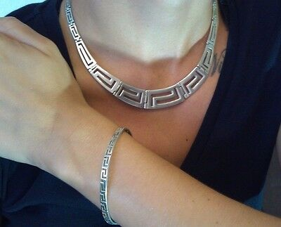Ensemble Collier & Armreif 925er Mexico? greek  aztec meandros bracelet necklace