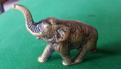 Vintage Heavy brass elephant ornament - paperweight