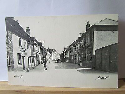 Ashwell High Street, Herts. Early Unposted Card. Great Local History.