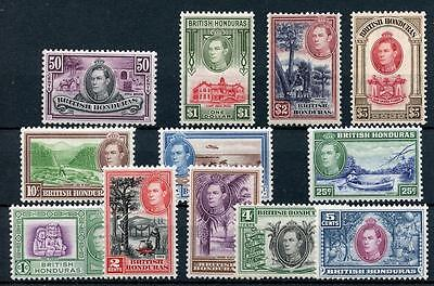 British Honduras 1938-47 set SG150/61 MM cat £190  - see desc