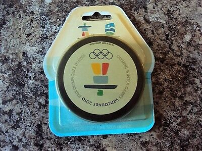 2010 Vancouver Winter Olympics Hockey Puck Canada  New in Package Unopened Rare