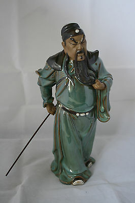 "Rare Large 13"" Collectable Chinese Mudman Wanjiang"