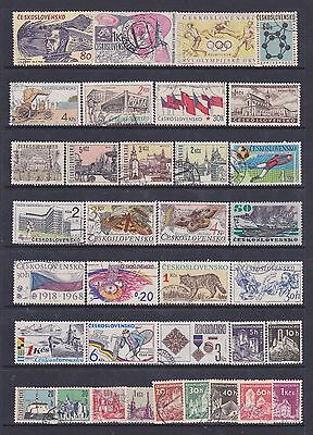 Czechoslavakia (2) - Another Good Lot Of 35 Used Stamps - See Scan