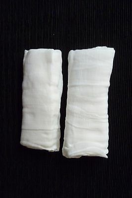 Baby clothes UNISEX BOY GIRL 0-1m+ NEW! 2 white muslin cloths 68cm x 68cm C SHOP