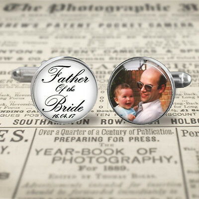 Father of the bride,Gift for dad, Personalized silverplated Brass cufflinks