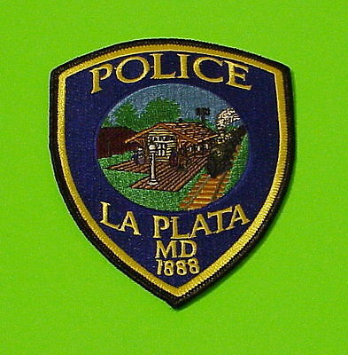 La Plata  Maryland  1888   Md ( Train )   Police Patch   Free Shipping!!!