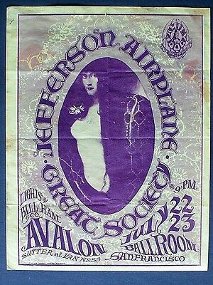 Jefferson Airplane Great Society Fd17 1966 Handbill 1St Mouse/kelley Fillmore
