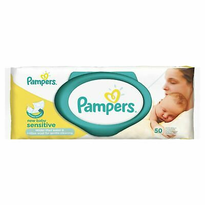Pampers New Baby Sensitive Wipes - 50 1 2 3 6 12 Packs