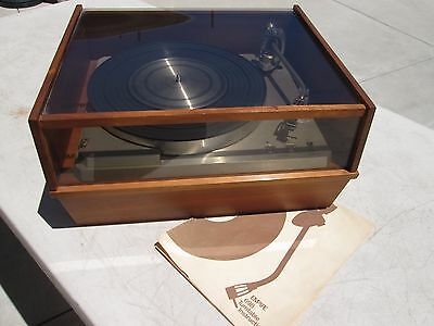 EMPIRE 698 TURNTABLE w/ MANUAL VERY CLEAN WORKS EXCELLENT SHURE CARTRIDGE