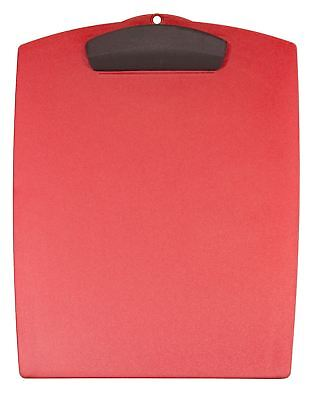Storex Hard Poly Clipboard, Letter, Red (Case of 12)