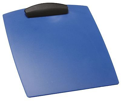 Storex Hard Poly Clipboard, Letter, Blue (Case of 12)