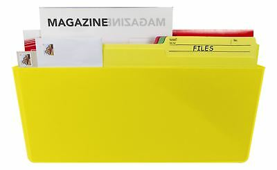 Magnetic Wall Pocket, Legal, Class Yellow (Case of 6)