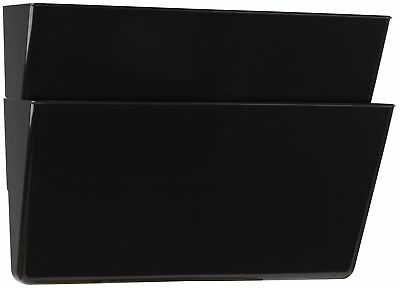 Storex Recycled Wall Files, Letter, 2-Pack, Black (Case of 6)