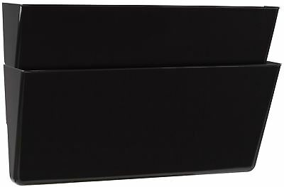 Storex Recycled Wall Files, Legal, 2-Pack, Black (Case of 6)