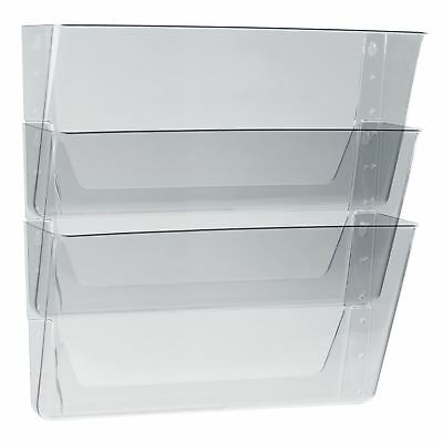Storex Wall Files, 3-Pack, Legal, Clear (Case of 6 packs)