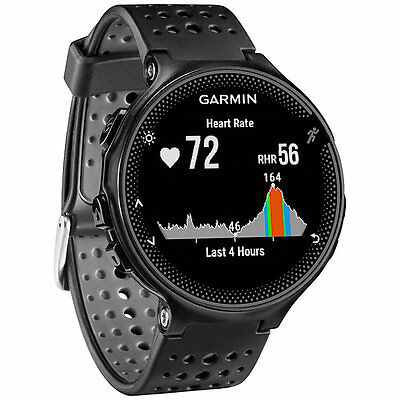 Garmin Forerunner 235 + Wrist-based Heart Rate Tech|New|Sealed|UK Spx|Black/Grey