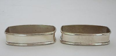 Lot 2 Webster Sterling Silver Rectangular Napkin Ring Unused With Original Box