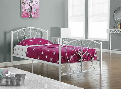 L&S Basics 10273 Bed - Twin Size / White Metal Frame Only