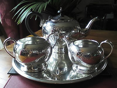 A Sheffield Silver plated Teapot Set