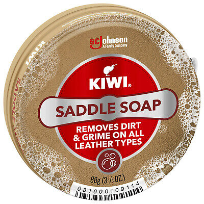 KIWI OUTDOOR SADDLE SOAP HIGH QUALITY Cleans Softens & Preserves Smooth Leather