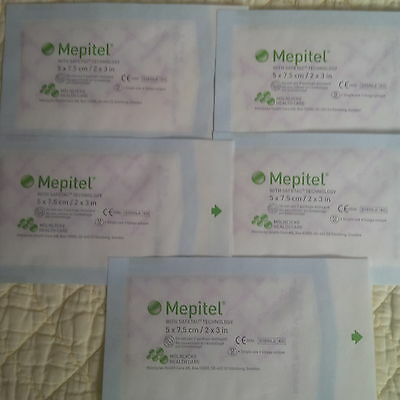 "Mepitel 2""x3"" x5 Wound Dressing home care REF 290510  Dressing care"