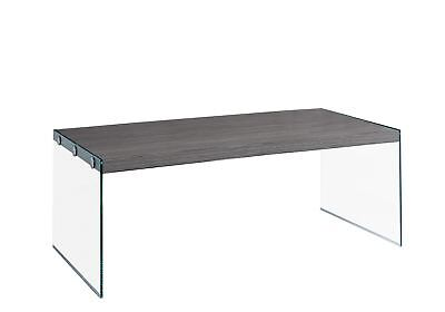 L&S Basics 10599 Coffee Table - Grey With Tempered Glass