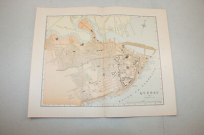 Authentic first issu print in 1890 WORLD MAP VINTAGE Quebec  (11)