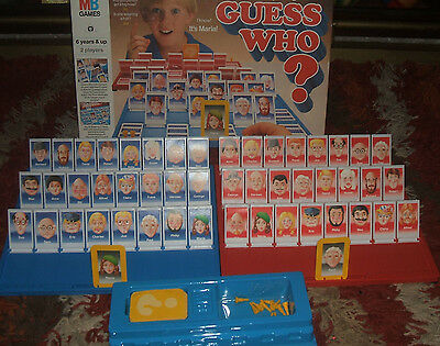 Vintage Guess Who? Board Game. MB GAMES 1980 VGC - 100% Complete FREEPOST