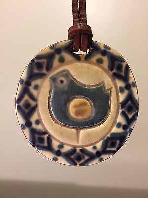 Mid-Century KA DANMARK Pottery Necklace VINTAGE Made In DENMARK