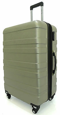 Hard Shell 4 Wheels Suitcase ABS Luggage Travel XXL GOLD