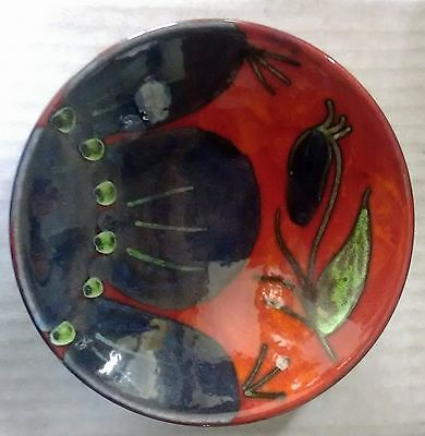 Poole Pottery Plaque /pin Dish 12cm Himalayan  Poppy Design
