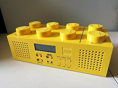 Lego Yellow Brick Radio with Aux In   CD PLAYER NOT WORKING