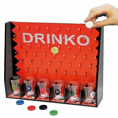 Drinko Adult Drinking Fun Party Game 6 Shot Glasses Hen Stag Night Fun Party