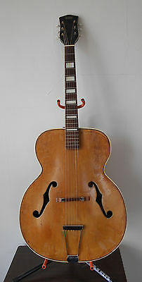 "Vintage 1951 Oahu National Valco 17"" Jazz Acoustic Archtop Guitar"