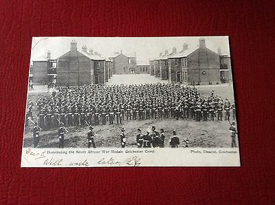 Pre WWl 1904 South African War Colchester Camp Post Card