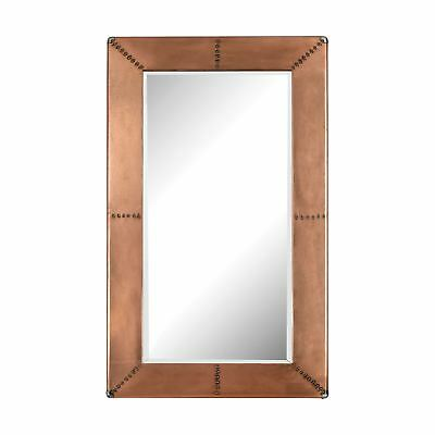Copper Frame Mirror With Nail Head