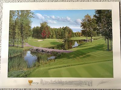 Lithograph of 2007 President's Cup golf tournament played in Montreal
