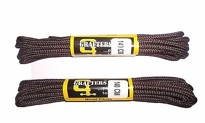 2 PAIRS GRAFTERS 140CM STRONG WORK/HIKING/DR MARTENS BOOT LACES Brown