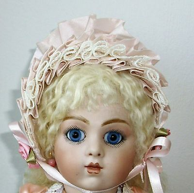 39cm PRETTY FRENCH BRU JNE ANTIQUE REPRODUCTION  DRESSED BEBE P/MACHE BODY