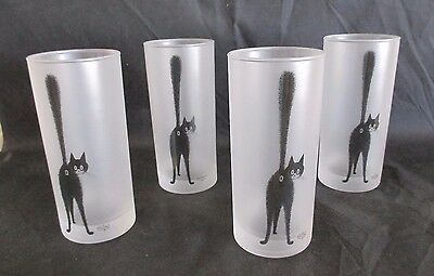 4 CAT The Third Eye DUBOUT Edition Clouet TUMBLERS  2001 France TAIL UP Glasses