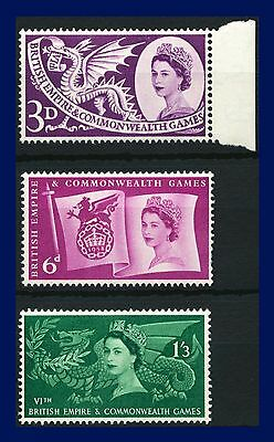 1958 SG567-569 3d-1s3d Commonwealth Games Set (3) MNH Unmounted Mint akcn