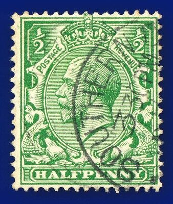 1913 SG354 ½d Yellow-Green N14(8) Good Used ajzy