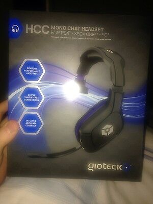 Playstation 4 & PC * Gioteck HCC Mono Chat Headset * NEW PS4 (also Xbox One*)