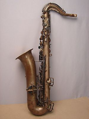 Rare Antique Buescher Saxophone Low Pitch circa 1917 for Display or Restoration
